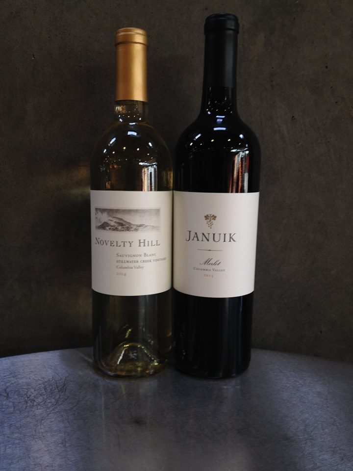 New labeling this year for Novelty Hill and Januik bottles. They have a highly compelling lineup of new release wines.