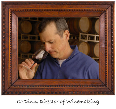 Nice shot here of Co Dinn sampling his wines