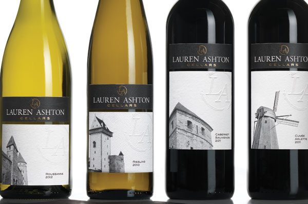Great looking labels for Lauren Ashton Cellars wines