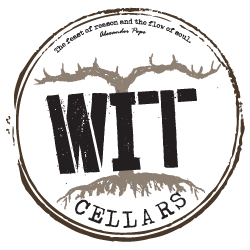 Cool looking label for Wit Cellars, located in Prosser, Washington.