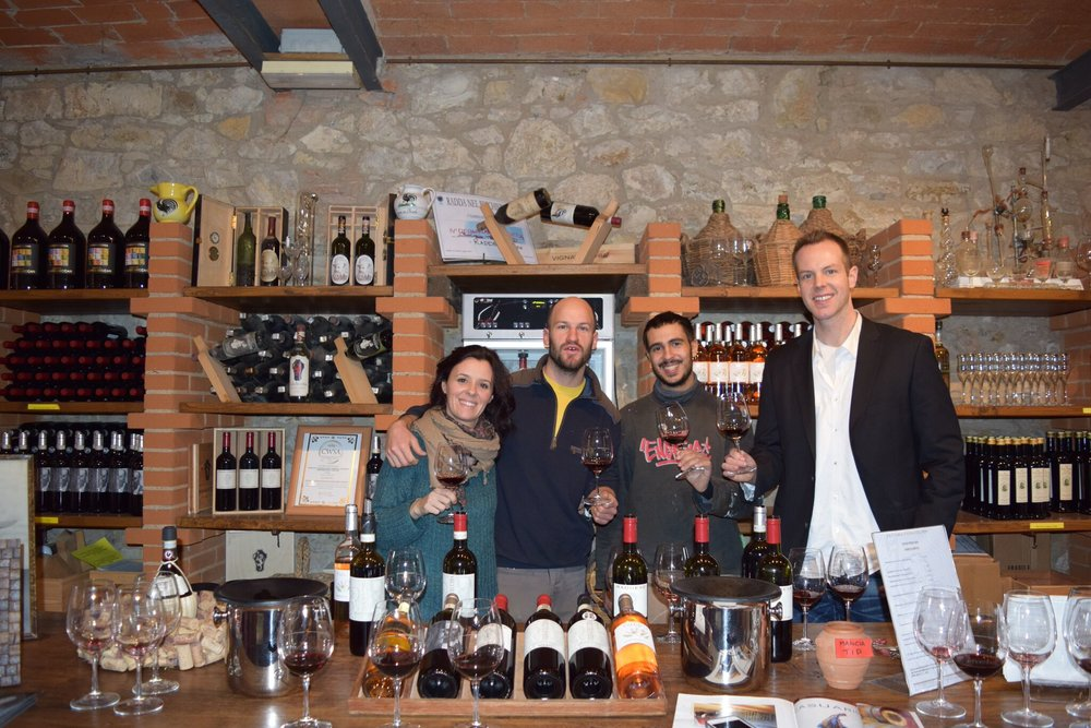 Tasting with Vignavecchia team.jpg