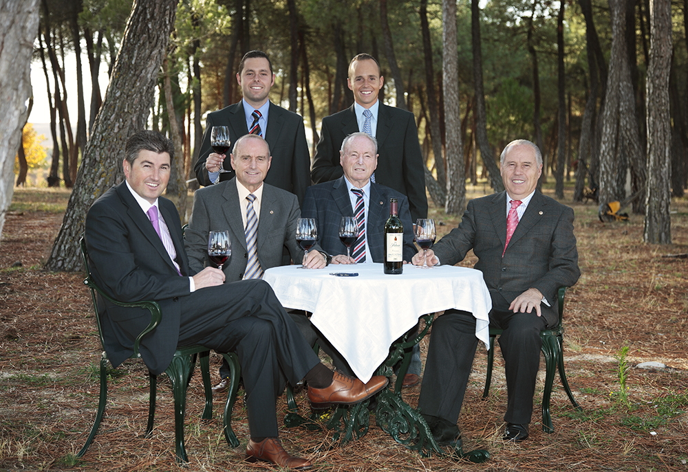 Great photo here of the Perez Pascuas family enjoying their wine