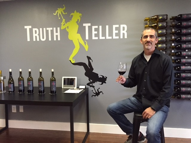 Great shot here of Chris Loeliger, co-owner and winemaker at Truth Teller WInery.