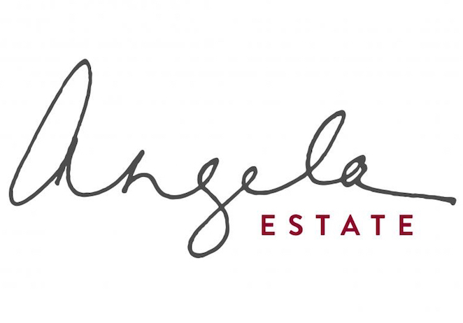Simple but elegant label of all Angela Estate wines