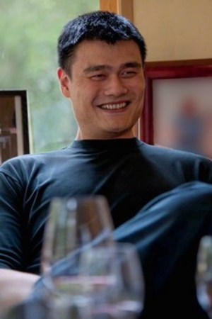 Great shot here of NBA legend Yao Ming of Yao Family Wines