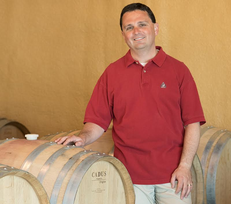 Great shot here of attorney turned winemaker, Dave Specter of Bells Up Winery