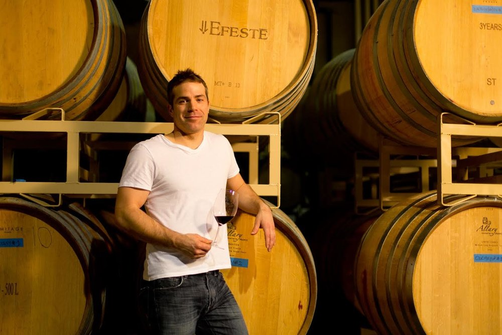Great photo here of Peter Devison, an awesome guy and superstar winemaker of EFESTĒ.