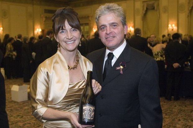 Great photo here of one of the icons of Oregon wine, Ken Wright, with his wife, Karen.