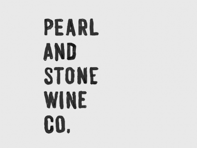 Great looking logo for this new winery, Pearl and Stone