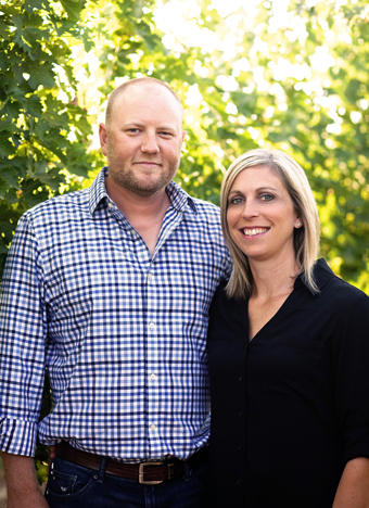 Great photo here of Josh and Lisa Lawrence of Gård Vintners