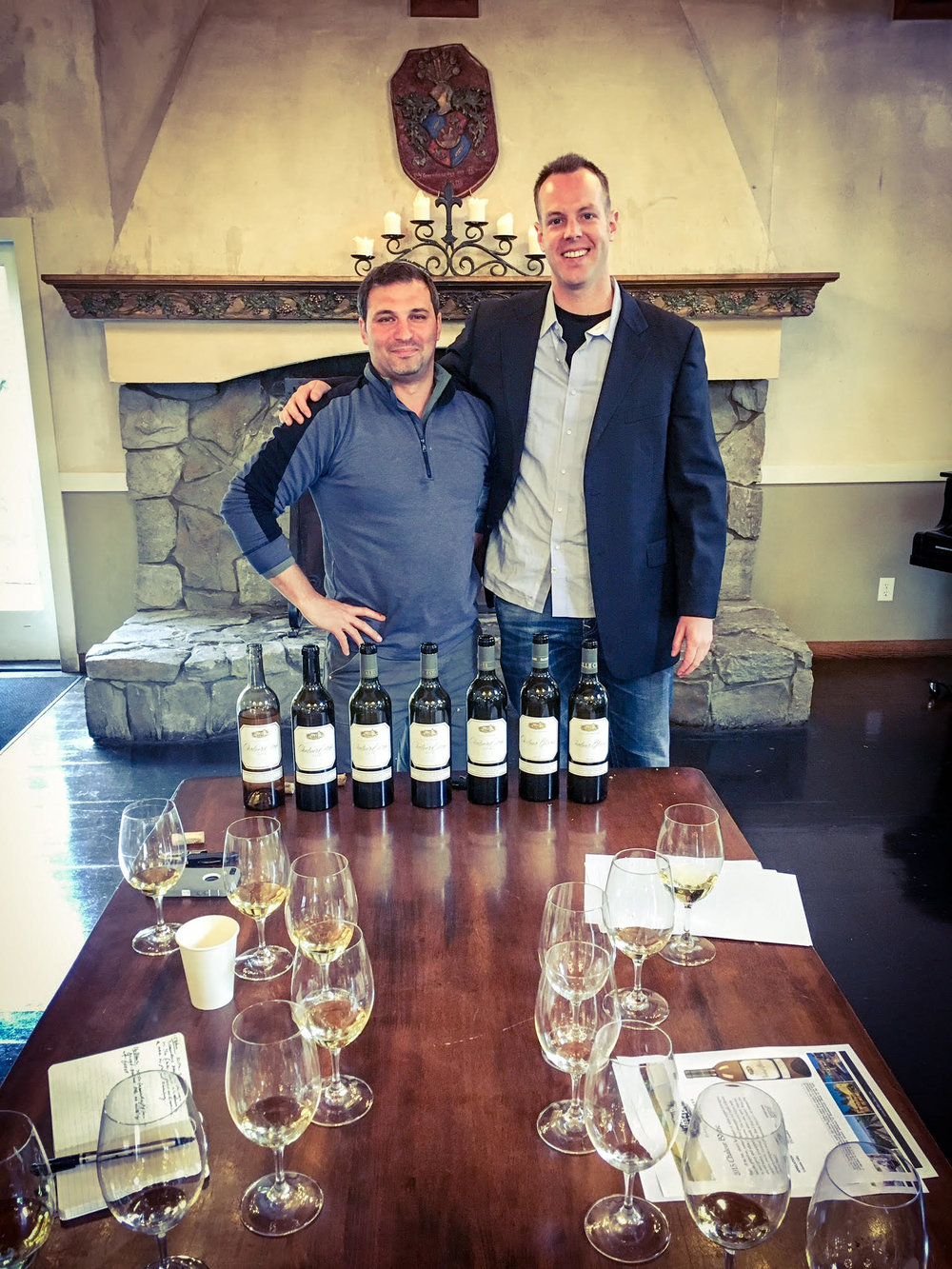 I had a marvelous tasting of DeLille 'Chaleur Estate Blanc' with superstar winemaker, Jason Gorski