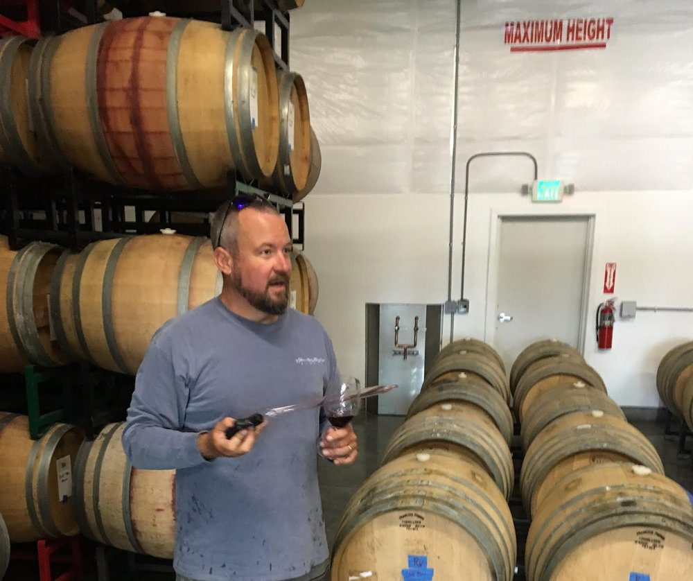 I had a great time visiting Rotie Cellars in Walla Walla and hanging out with talented winemaker, Sean Boyd