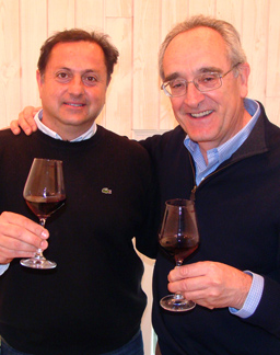 Here we have the talented winemaking team of Fabian Valenzuela  (L) and Jean Claude Berrouet (R) at Tapiz.