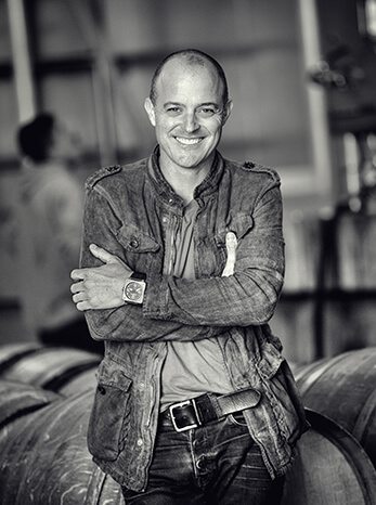 Awesome photo of iconic California winemaker, Greg Brewer, one of the founders of Brewer-Clifton winery.
