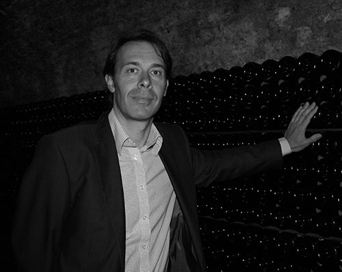 Great photo here of Besserat de Bellefon winemaker Cedric Thiebault, in his cellar.