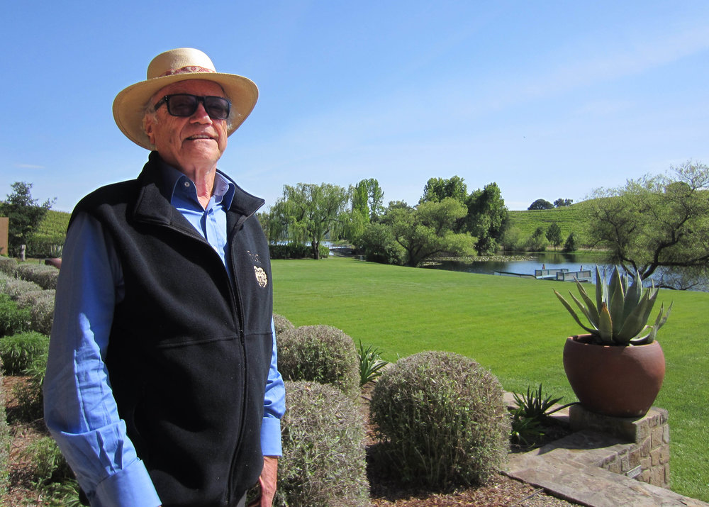Wonderful photo here of Napa icon, Agustin Huneeus.