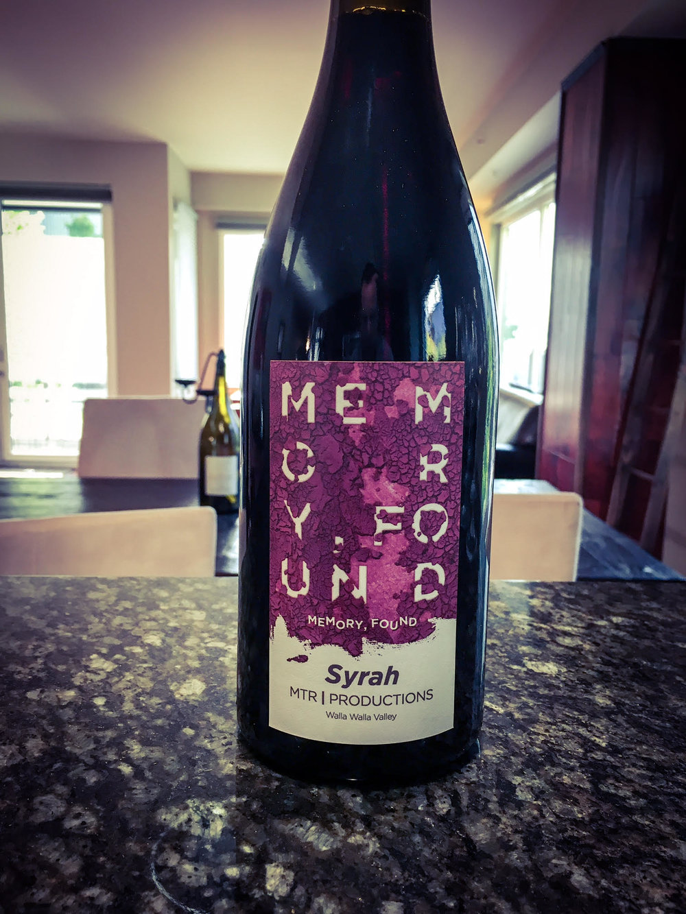 The 2012 MTR Productions 'Memory Found' Syrah (WWB, 95) is a stunning wine made by Matt Reynvaan.