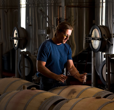 Fantastic photo here of Northstar head winemaker, David Merfeld, in his cellar.