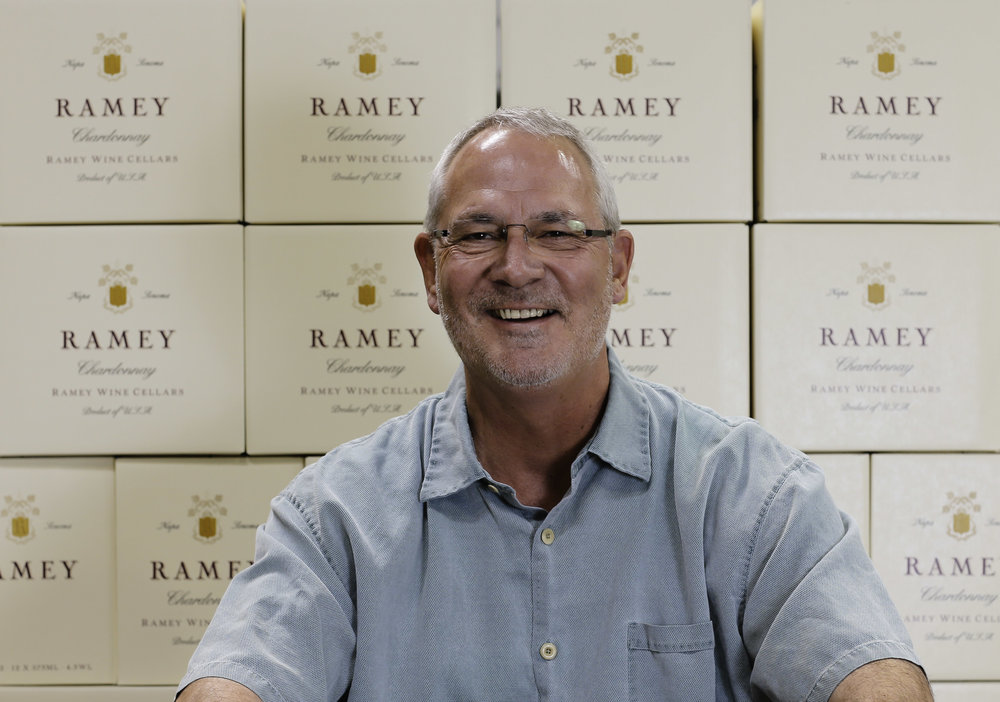 Great photo here of one of the iconic producers of California Chardonnay, David Ramey.