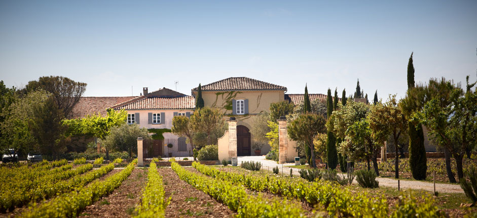 Gorgeous photo here of Chateau de Beaucastel, with its vineyards set on large stones.