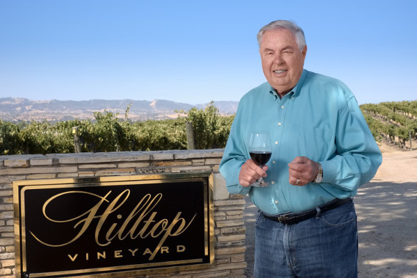 Great photo here of Jerry Lohr, founder of J. Lohr, at his Hilltop Vineyard.