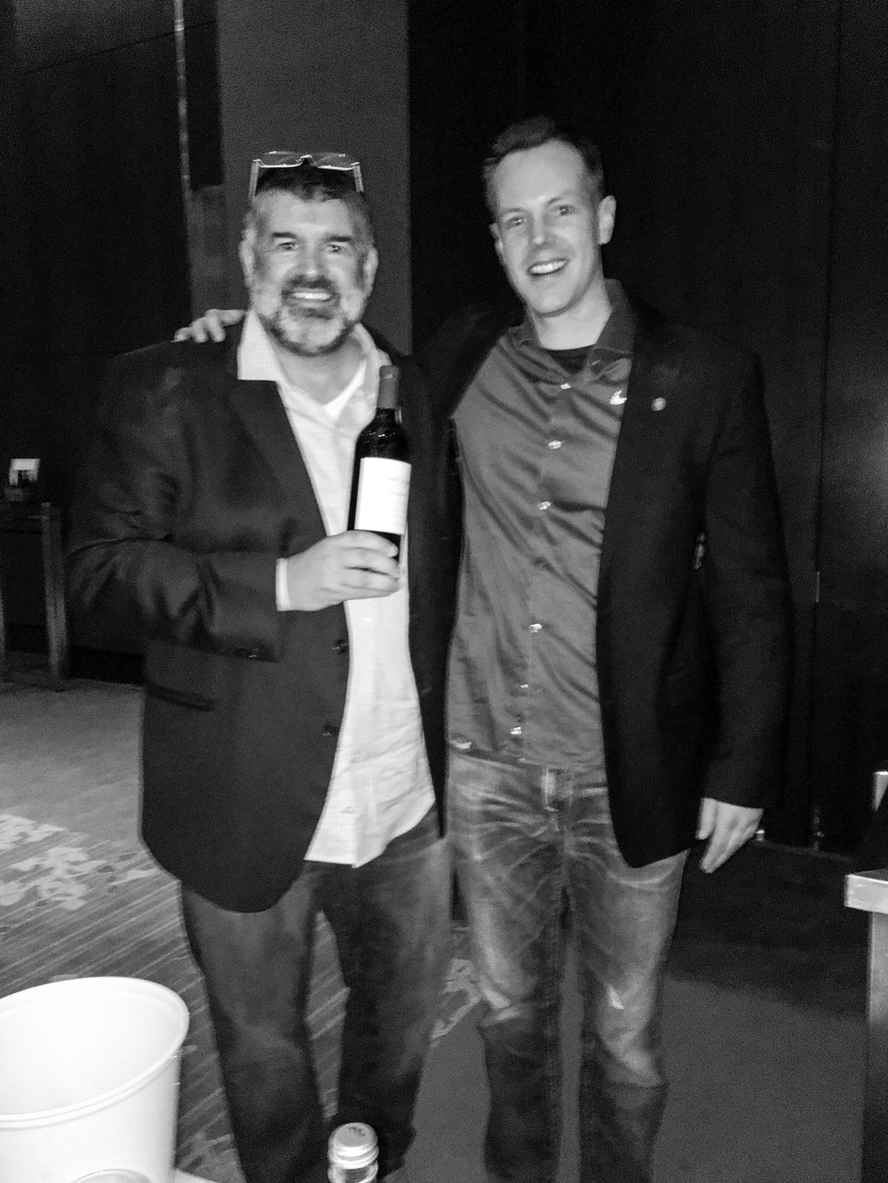 Mark McNeilly (L) is the mastermind behind Megan Anne Cellars. His releases from the warm 2015 vintage were very impressive.