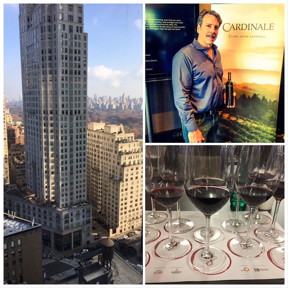 It was a stunning location at the Mandarin Oriental Hotel NYC to try some of Napa's best by Cardinale.