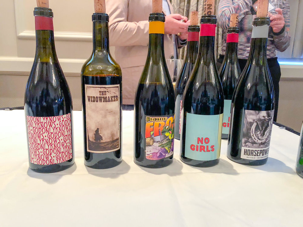 Cayuse 2018 tasting wine bottles.jpg