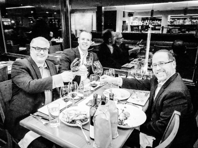 It was a really memorable meal at Ray's Boathouse, hanging out with Ray's GM and co-owner Doug Zellers (L) and Ray's wine director Chip Croteau (R)