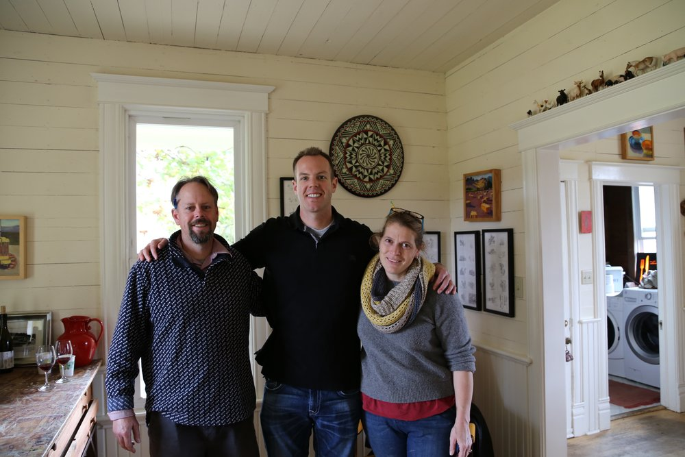 Here I am with one of the top winery teams in Oregon, Brian Marcy (L) and Clare Carver (R) of Big Table Farm.