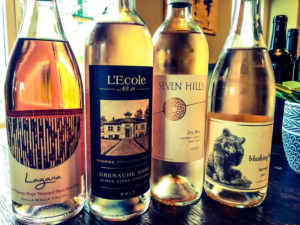 Here we have some outstanding Washington Rose wines made by Lagana, L'Ecole No. 41, Seven Hills and Pursued By Bear.