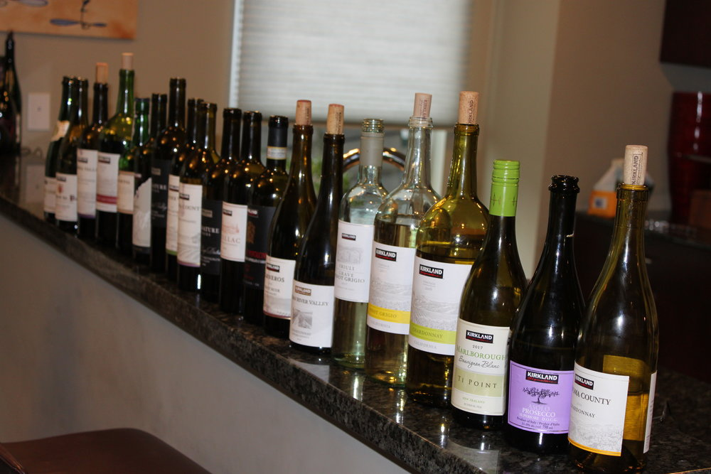 Pictured is the incredibly broad range of wines that we reviewed for our Costco Wine Report.
