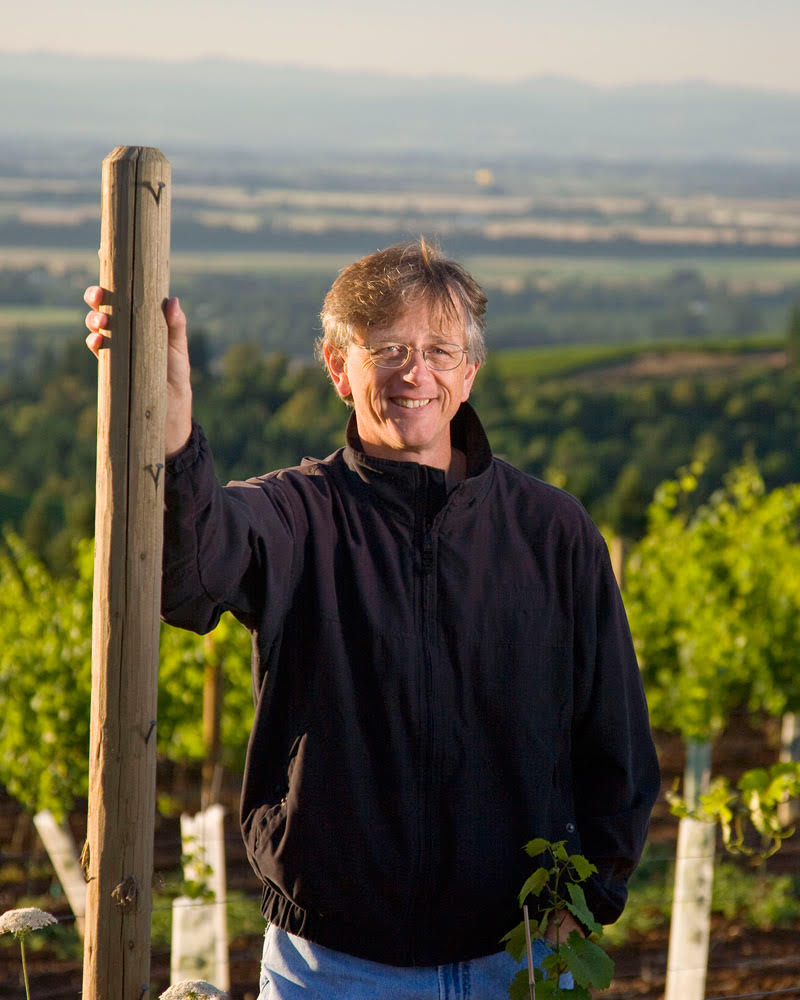 Great photo here of Erath winemaker, Gary Horner, who has completed more than 30 vintages in Oregon.