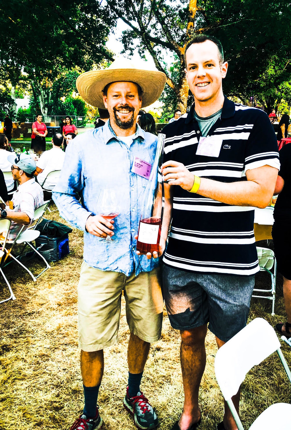 Here I am pictured with Big Table Farm winemaker, Brian Marcy. Brian crafts some of the best Rose in North America.