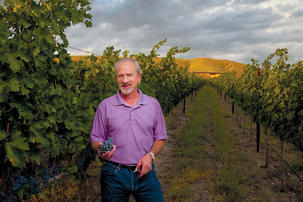 Darel Allwine is the superstar winemaker at famed Red Mountain winery, Col Solare.