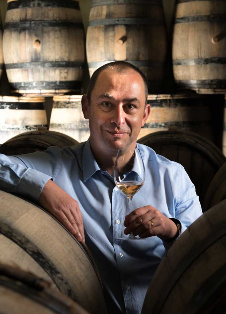 Great photo here of Giles Descotes who has served as cellar master at Champagne Bollinger since 2003.