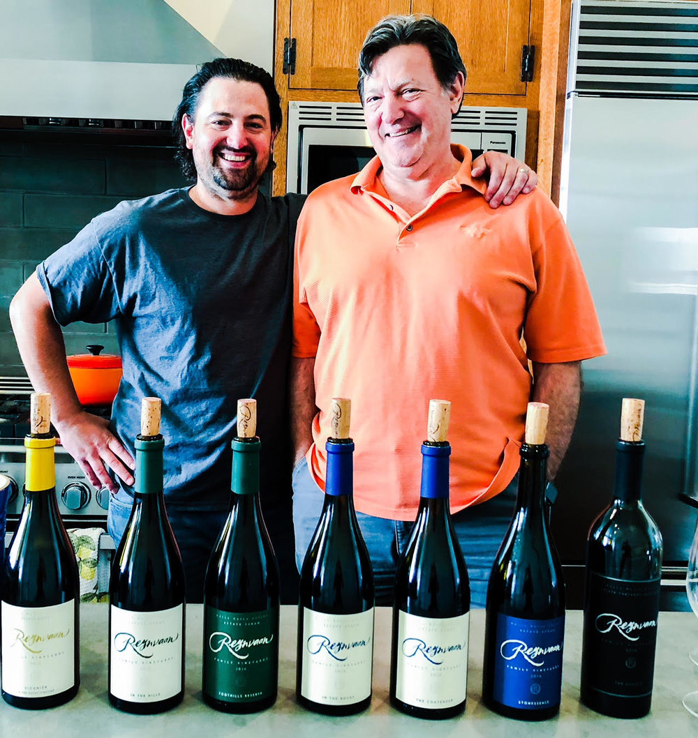 Here we raise a glass to the Reynvaan family for their incredible accomplishments. Pictured here is Matt (L) and Mike (R) Reynvaan at their winery. They have produced an incredible range of wines coming from the 2016 vintage.