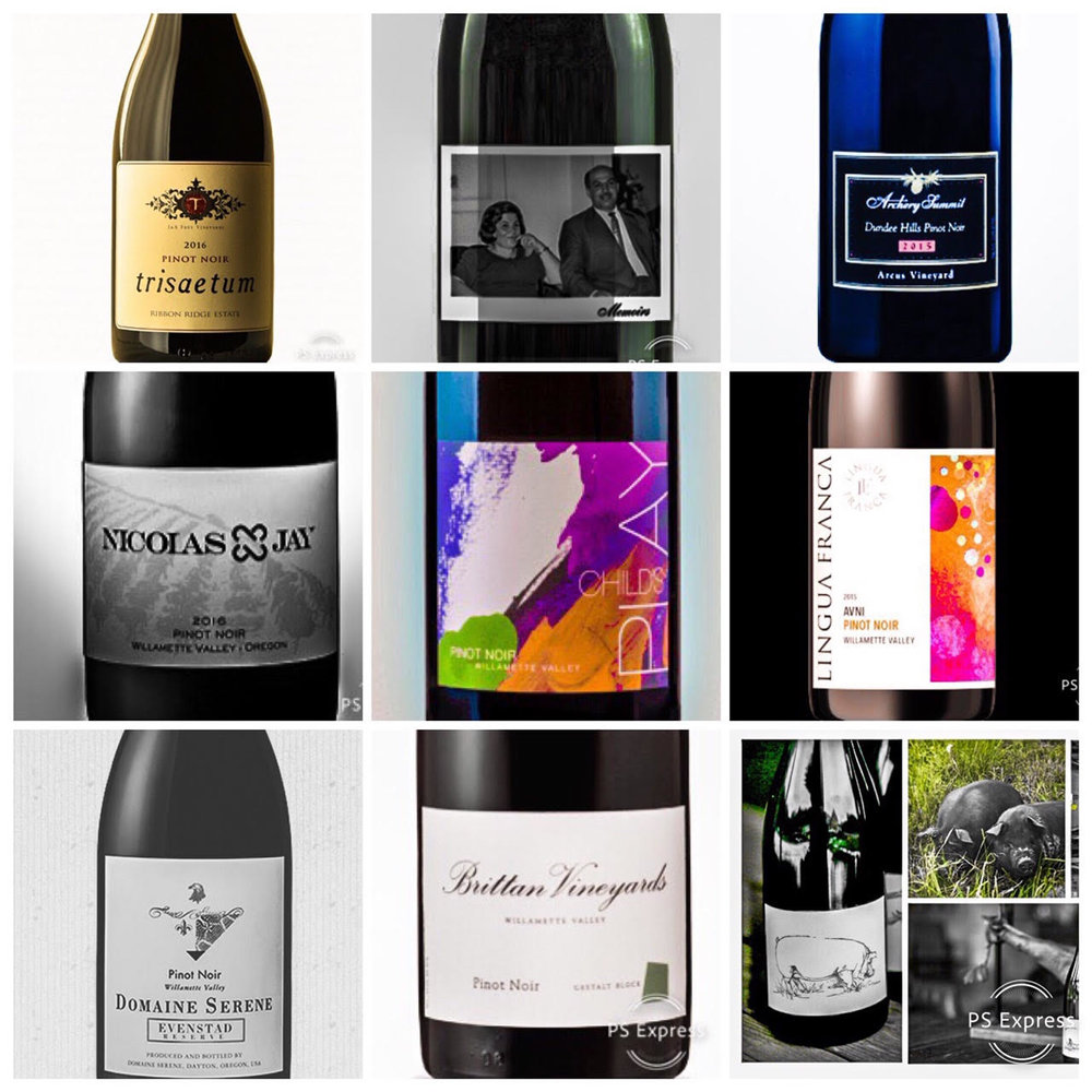 I have selected ten beautiful new Oregon Pinot Noirs to sample for yourself in the new year.
