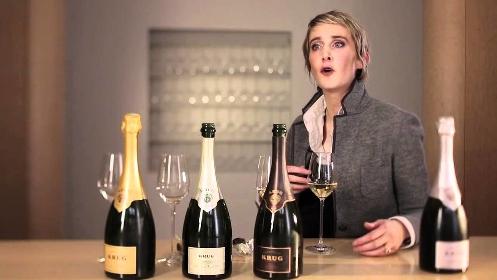 Great photo here of Krug Champagne winemaker, Julie Cavil.