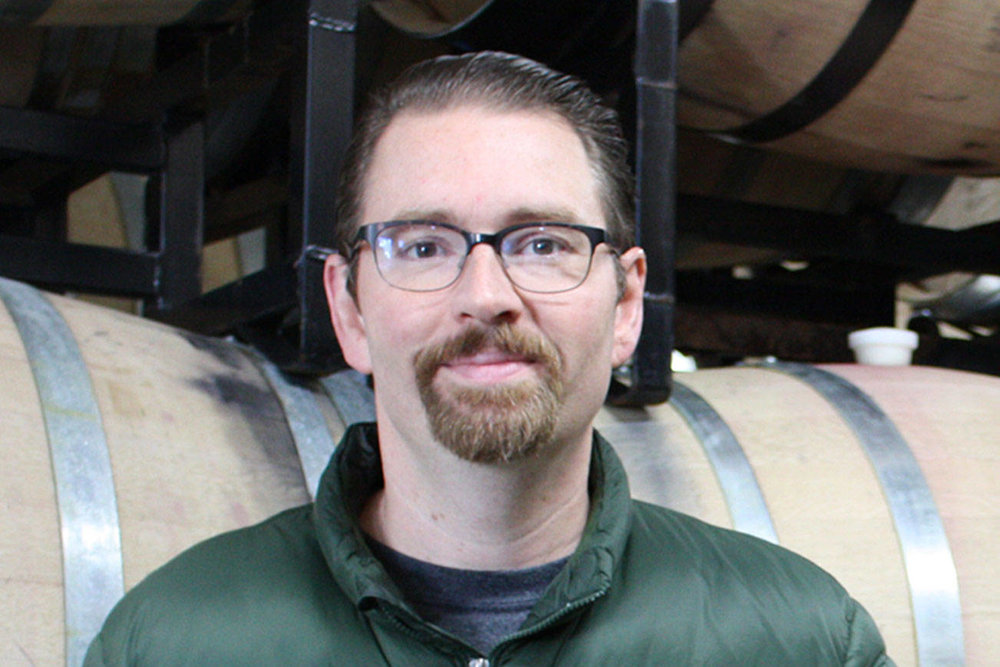 The talented Louis Skinner serves as head winemaker at Betz Family Winery.