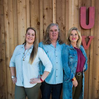 Great photo here of the Upchurch family who have their beautiful boutique winery on Red Mountain.