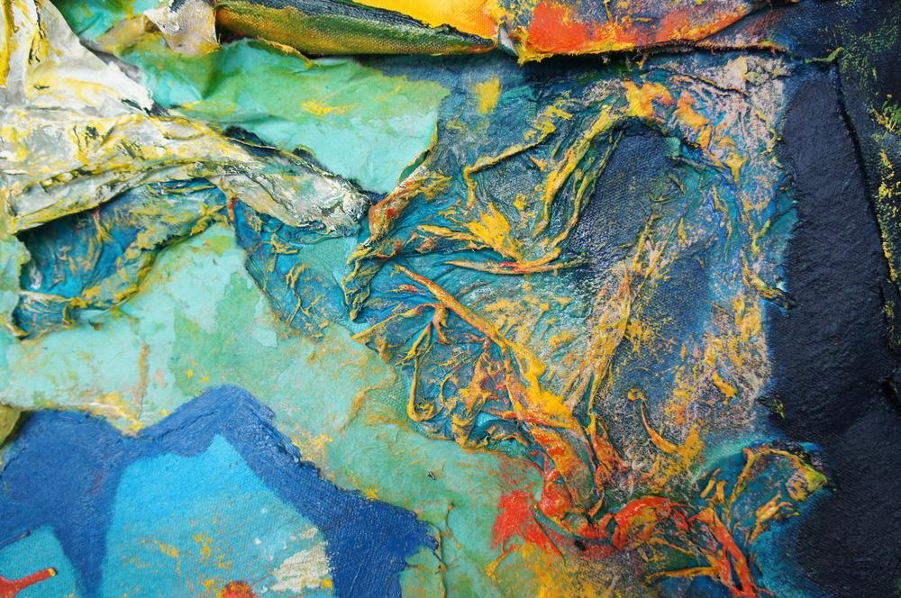 Detail of  Organic Abstractions I, II and III    (photo credit: Mark Warren, 2015)