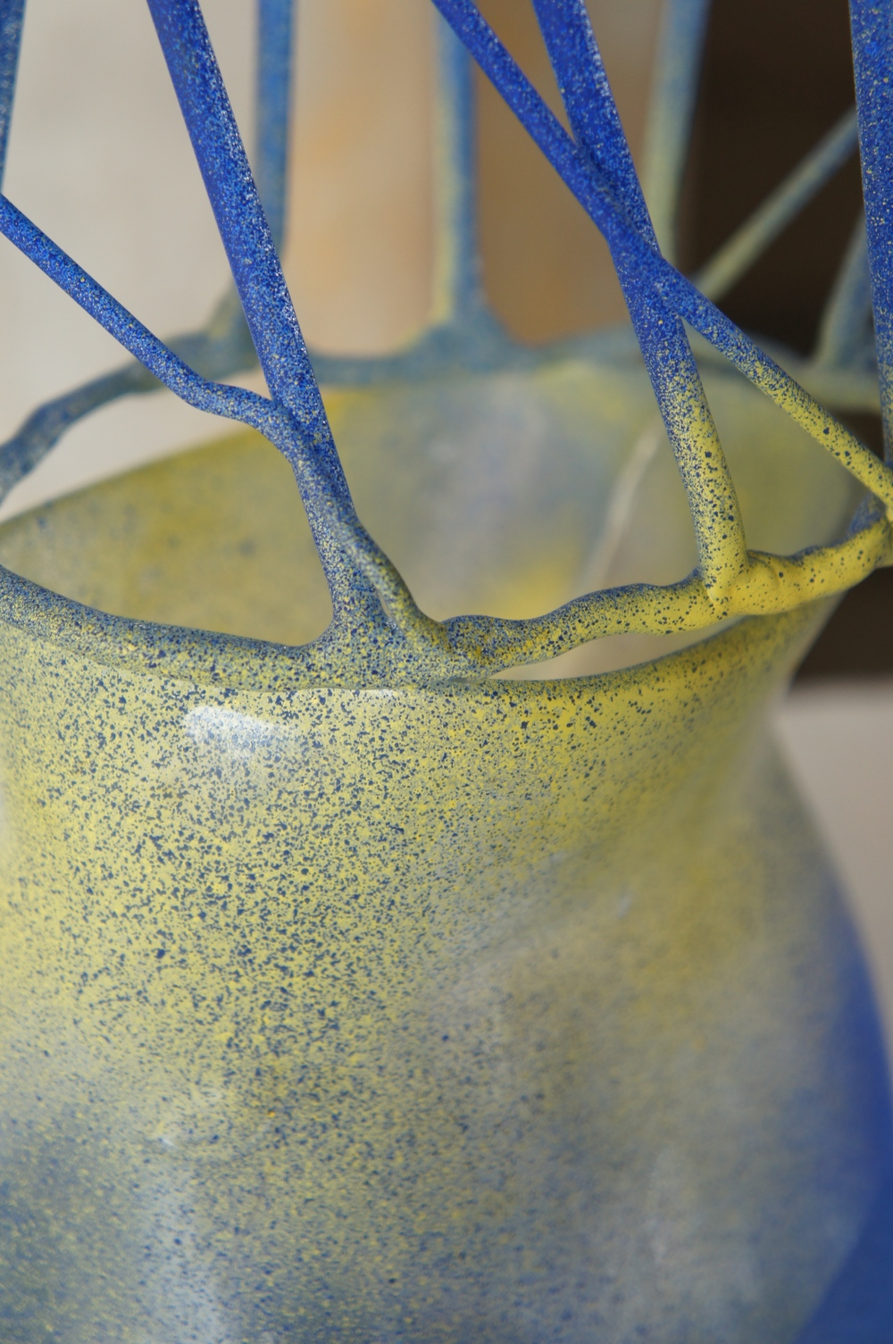 Detail, If a Flower were a Vase I, II and III, 2015, glass and spray paint (photo credit: Mark Warren, 2015)