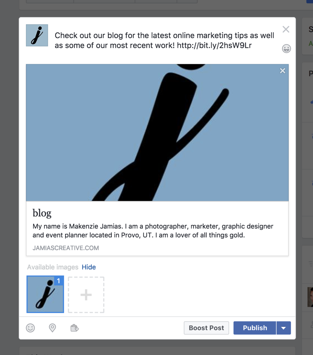 How to share a link to your Facebook page