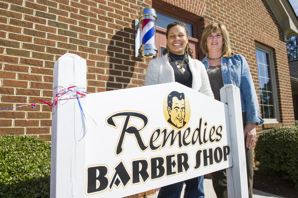 at Remedies Barber Shop in Suffolk on Friday, March 4, 2011.  (Jonathen E. Davis | For The Virginian-Pilot) (CQ)