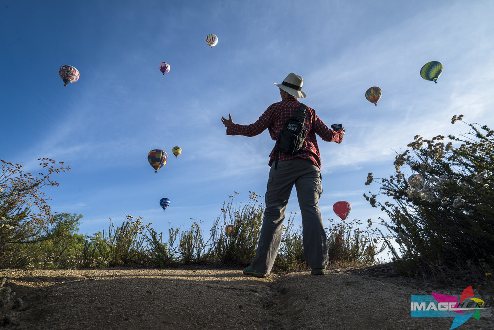 Image Hero's Director of Communication Lisa Swank enjoys her outing at the Temecula Balloon and Wine Festival.