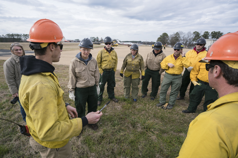 Team Rubicon, with a partnership with the Bureau of Land Management, are being trained to become helicopter crewmembers for helitack teams to combat forest fires.  This is the first cohort to go to through this specialize training tailored for Team Rubicon volunteers.