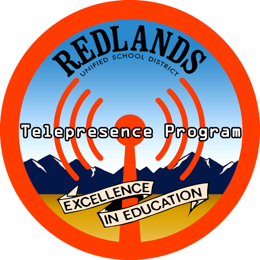 Redlands Unified School District's Telepresence logo.