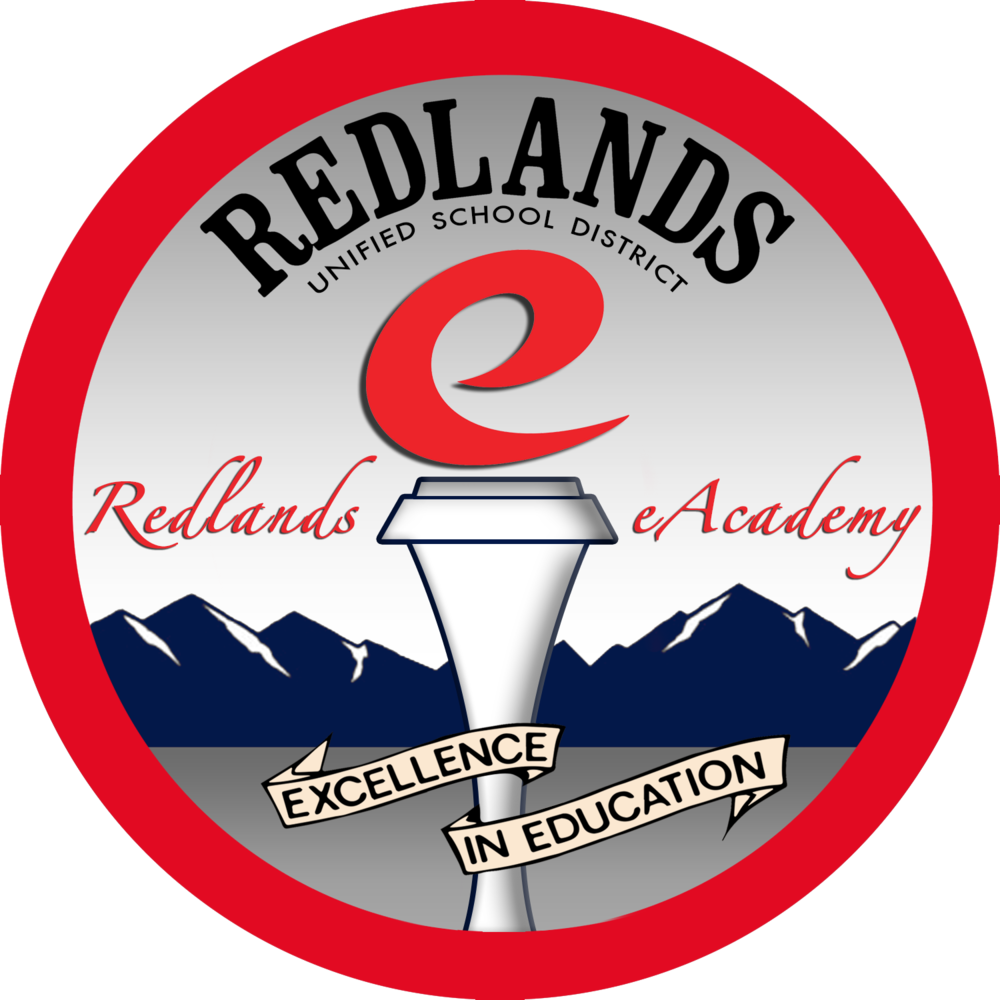 Redlands Unified School District's eAcademy logo.