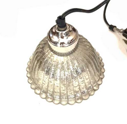 Our beautiful Mercury Glass Pendants in a distressed gray clear glass